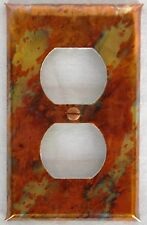 Handcrafted Burnt Copper Switch Plate Outlet Cover Double Plug (Dp)