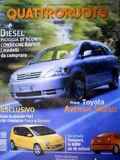 Quattroruote 550 2001 La piccola Fiat che rimpiazza Panda e 600. Toyota [Q88]