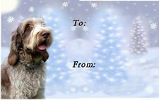 Italian Spinone Christmas Labels by Starprint - No 2