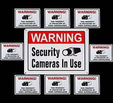 METAL Outdoor Home Security Camera Alarm System Warning Sign+Sticker Lot