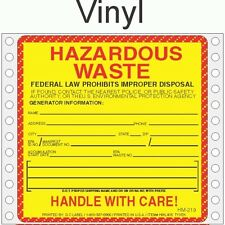 Hazardous Waste Vinyl Labels HWL405V (PACK OF 500)