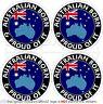 "AUSTRALIA Australian Born & Proud 50mm (2"") Bumper-Helmet Stickers, Decals x4"