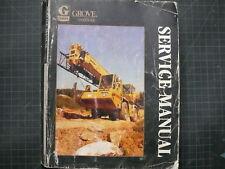 Grove Kran RT600 Rau Gelände Gabelstapler Reparatur Laden Service Manuell Buch