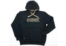 FOX CHUNK Black Applique Camo Print Logo Hoodie / Hoody - All Sizes
