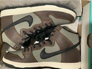 Nike sb dunk high baroque brown (size 9) (brand new)