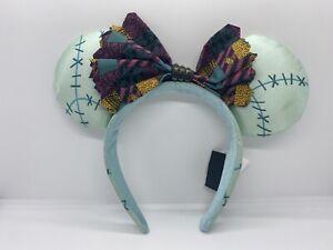 Disney Parks Nightmare Before Christmas Sally Minnie Mouse Ears Headband Hat