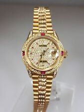 "Genuine Rolex 18k Yellow Gold Datejust Super President 6917 ""DIAMONDS EVERYWHERE"