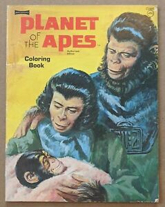 1974 Planet of the Apes Coloring Book Saalfield Artcraft UNCOLORED POTA