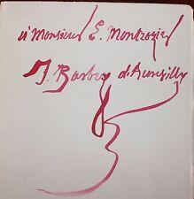 ✒ EO avec ENVOI Jules BARBEY d'AUREVILLY Une page d'histoire 1886 2 gravures