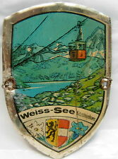 Weiss See Kitzsteinhorn used badge stocknagel hiking medallion mount G5191