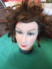 """Burmax"" Mannequin Woman Head Cosmetology Display Human Hair. Debra Manikin"