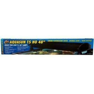 "AquaSun Dual T-5 HO Hood 48"" - ZooMed"