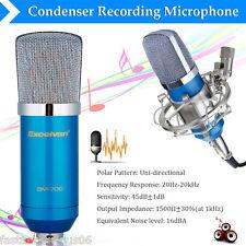 Excelvan BM-700 Micrófono Condensador para Grabación de Estudio Soporte Choque