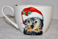 Portobello COFFEE YORKSHIRE TERRIER HOLIDAY MUG NEW Cup Yorkie Santa Hat Dog