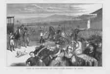 1873 ANTICA STAMPA ITALIA ROMA RACING radura corso Gendarmes GUARDIA URBANA (191B
