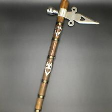 New Indian Style Axe with Smoking Pipe 19-Inch Overall Fantasy