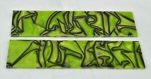 "KIRINITE TOXIC GREEN & BLACK 1/4"" Scales for Knife Making Woodworking Bushcraft"