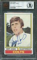 1974 topps #524 BERT JONES authentic autograph rookie colts BGS BAS AUTHENTIC