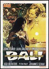 BALI INCONTRO D'AMORE MANIFESTO CINEMA FILM LAURA ANTONELLI 1970 MOVIE POSTER 2F