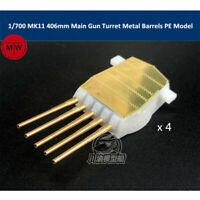 1/700 Scale MK11 406mm Main Gun Turret Metal Barrels PE Parts Model 4pcs/set