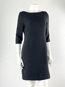 M&S Women's Vintage Dress Black Work Office Smart Party St Michael LBD Petite 10
