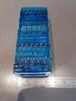 "BITOSSI slab Vase Italian Aldo Londi Pottery Rimini Blue great condition 8 1/4"""
