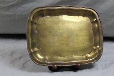 Kupfer Tablett - flache Platte - rechteckige Form mit Rundungen - 470 Gr.  /S194