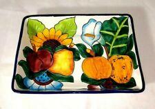 Talavera Mexican Pottery Casserole Baking Dish, Mexico Folk Art, Lead Free