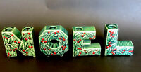 Vintage Noel Lipper & Mann Style Japan Ceramic Christmas Candle Holders