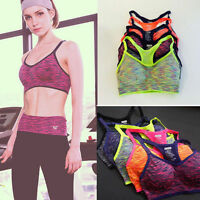 Seamless Women Sports Bra Yoga Fitness Running Tank Tops Padded Stretch Workout