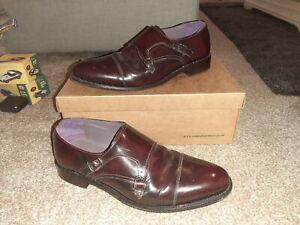 Samuel Windsor Men's Shoes Monk Strap Oxblood Leather UK Size 10, hardly used