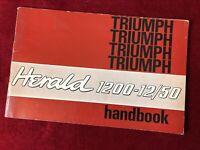 Original Triumph Herald 1200 12/50 Handbook service manual 19 67 68 vintage NOS
