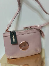 Mimco Leather SECRET Hip Across body Hand Bag BNWT $199 Pink Rose Gold