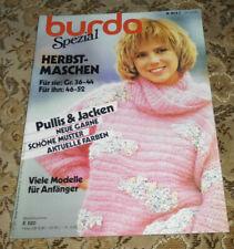 Burda von 1985 Herbst Maschen Stricken Strickheft Damen Herren
