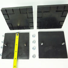 Challenger Lift Square Rubber Lift Pad  CL9 CL10 ( Set Of 4 pads and hardware)