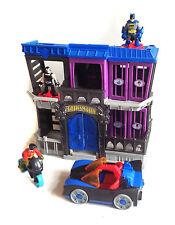 DC Fisher Price IMAGINEXT BATMAN GOTHAM JAIL w/figures Car & Bike set, robin