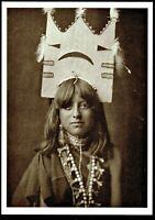 ⫸ 964B Postcard Tablita Woman Dancer San Ildefonso 1905 Photo Edward Curtis NEW