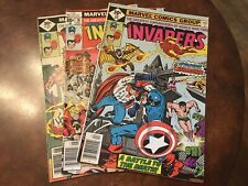 Lot of 3 Marvel The Invaders #15 16 17 comic books bronze age
