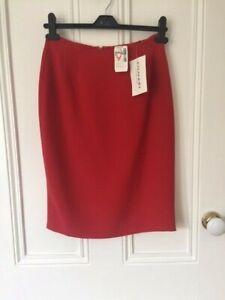 """BNWT """"Emanuel Ungaro""""  Size 36 UK 8 Bright Red Short Mini fully lined skirt"""
