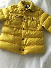 AUTHENTIC Burberry Boys Shirt Jacket Style Down Puffer - 4Y