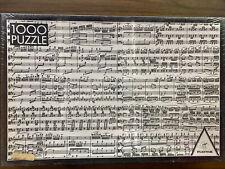 Piatnik MUSICAL NOTES puzzle 1000 piece Black & White Music (Austria) sealed