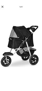 3-Wheel Foldable Dog Stroller Heavy Duty Pet Stroller Suspension System 55 LBS
