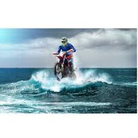 5D DIY Full Drill Diamond Painting Cross Stitch Kits Craft Water Motorcycle