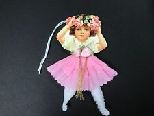 Paper doll Valentine's Day, Easter ornaments, Chenille feather tree item# 19
