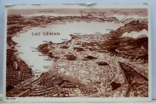 Switzerland Lac Leman Postcard Old Vintage Card View Standard Souvenir Postal PC