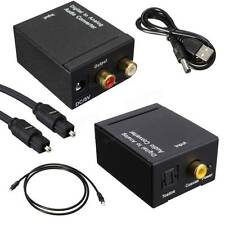 Digital Optical Coaxial Toslink Signal to Analog Audio Converter UK Adapter RCA