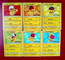 Ash's Pikachu I Choose You Movie Promo Set Of 6 Cards New Gamestop SM109-114