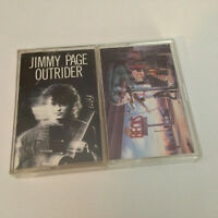 JIMMY PAGE - Outrider + JEFF BECK - Guitar Shop - 2x Lot Cassette Tapes - EX