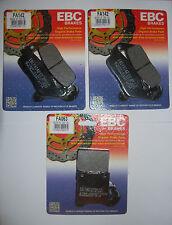 Suzuki GSF 600 Bandit full set EBC brake pads front and rear FA142 FA063 1995-99