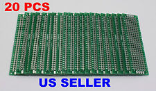2x8cm PCB Double-Sided DIY Proto Circuit Breadboard PCB (Universal) 20x